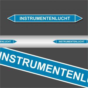 Leidingstickers Leidingmarkering Instrumentenlucht (Lucht)