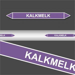 Leidingstickers Leidingmarkering Kalkmelk (Basen)