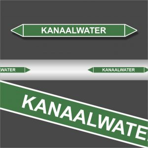 Leidingstickers Leidingmarkering Kanaalwater (Water)
