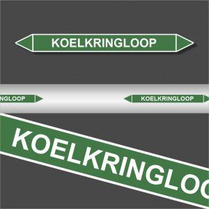 Leidingstickers Leidingmarkering Koelkringloop (Water)