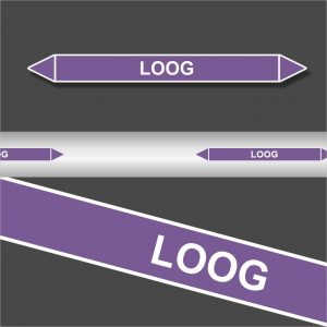Leidingstickers Leidingmarkering Loog (Basen)