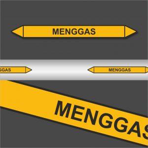 Leidingstickers Leidingmarkering Menggas (Gassen)