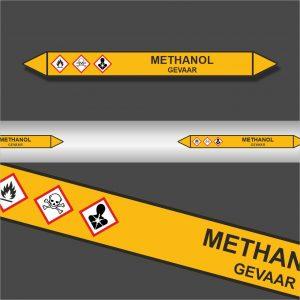 Leidingstickers Leidingmarkering Methanol (Gassen)
