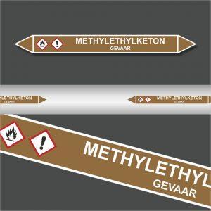 Leidingstickers Leidingmarkering Methylethylketon (Ontvlambare vloeistoffen)