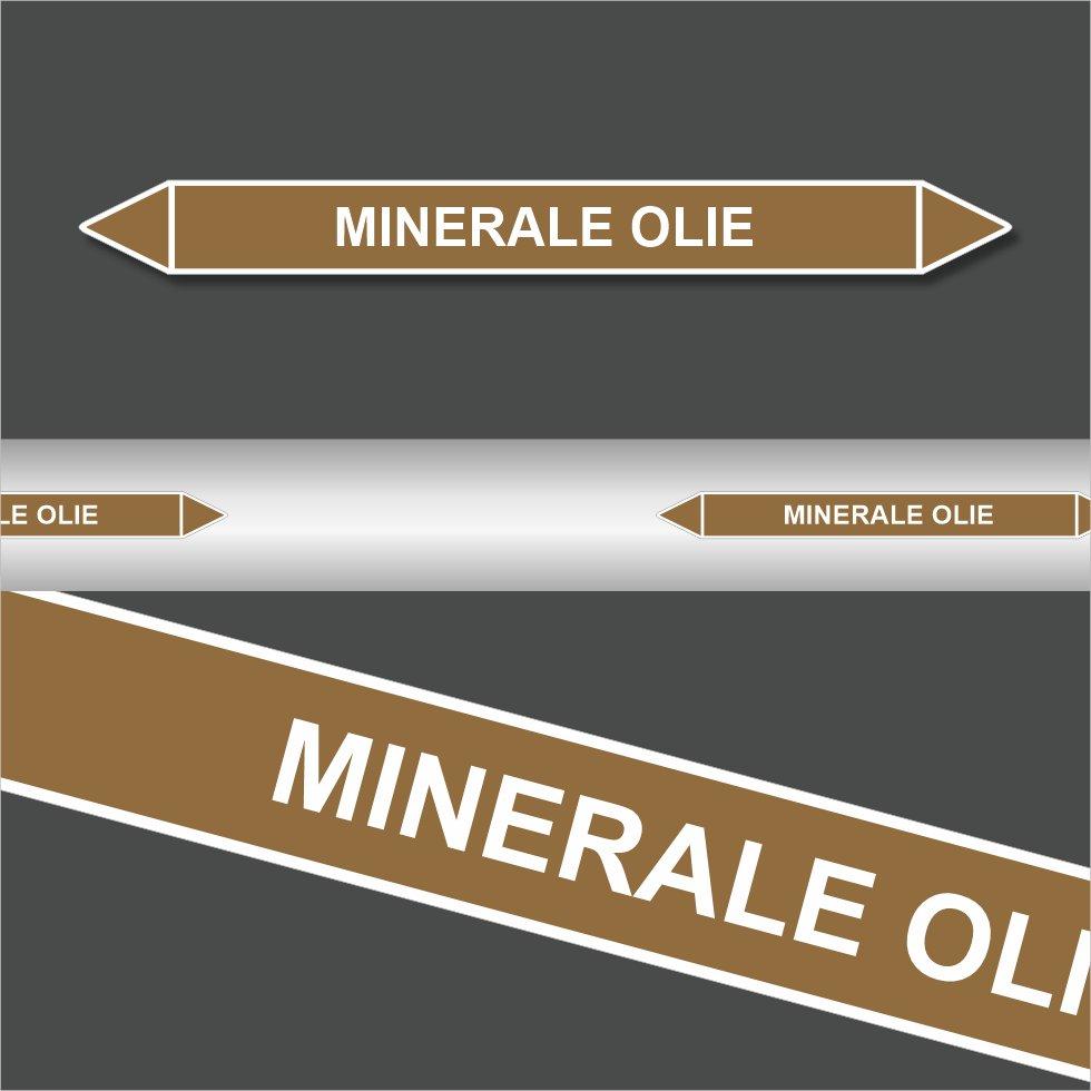 Leidingstickers Leidingmarkering Minerale Olie (Ontvlambare vloeistoffen)