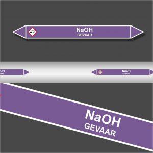 Leidingstickers Leidingmarkering NaOH (Basen)