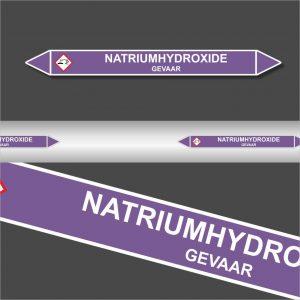 Leidingstickers Leidingmarkering Natriumhydroxide (basen)