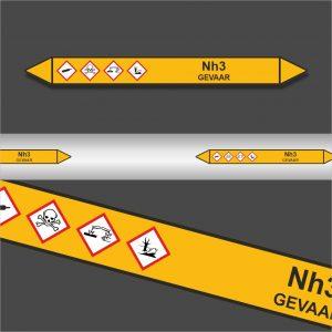 Leidingstickers Leidingmarkering Nh3 (Gassen)