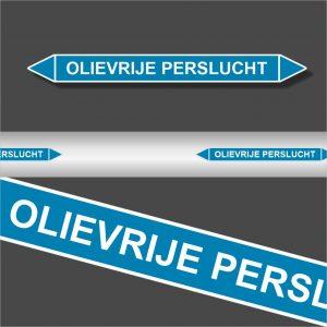 Leidingstickers Leidingmarkering Olievrije Perslucht (Lucht)