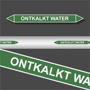 Leidingstickers Leidingmarkering Ontkalkt water (Water)