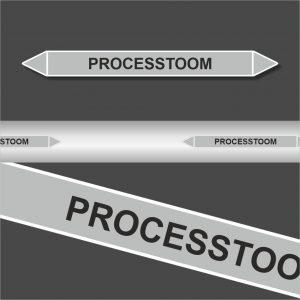 Leidingstickers Leidingmarkering Processtoom (Stoom)
