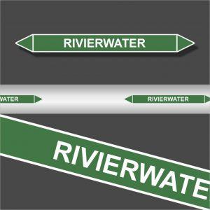 Leidingstickers Leidingmarkering Rivierwater (Water)
