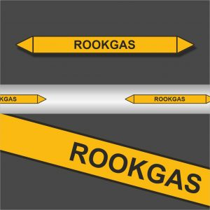 Leidingstickers Leidingmarkering Rookgas (Gassen)