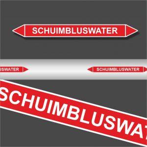 Leidingstickers Leidingmarkering Schuimbluswater (Blusleidingen)