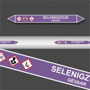 Leidingstickers Leidingmarkering Selenigzuur (Basen)