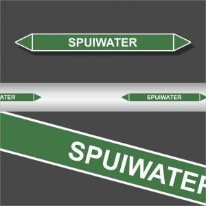 Leidingstickers Leidingmarkering Spuiwater (Water)