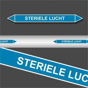 Leidingstickers Leidingmarkering Steriele Lucht (Lucht)