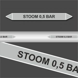 Leidingstickers Leidingmarkering Stoom 0.5 BAR (Stoom)