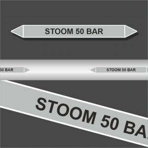 Leidingstickers Leidingmarkering Stoom 50 BAR (Stoom)