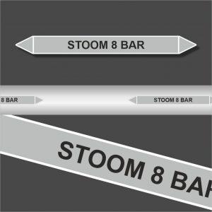 Leidingstickers Leidingmarkering Stoom 8 BAR (Stoom)