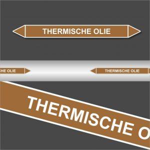 Leidingstickers Leidingmarkering Thermische Olie (Ontvlambare vloeistoffen)
