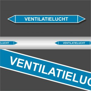 Leidingstickers Leidingmarkering Ventilatielucht (Lucht)