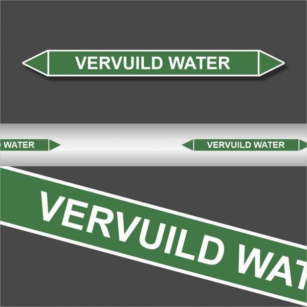 Leidingstickers Leidingmarkering Vervuild water (Water)