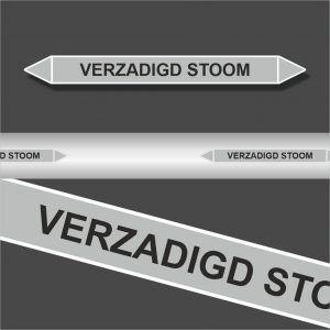 Leidingstickers Leidingmarkering Verzadigd Stoom (Stoom)