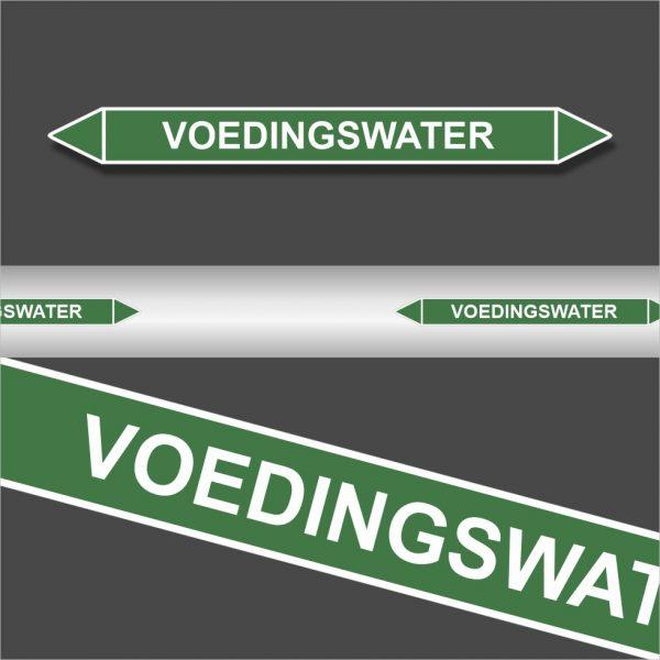 Leidingstickers Leidingmarkering Voedingswater (Water)