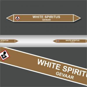 Leidingstickers Leidingmarkering White Spiritus (Ontvlambare vloeistoffen)