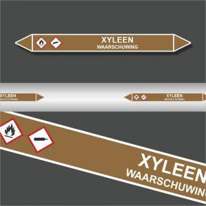 Leidingstickers Leidingmarkering Xyleen (Ontvlambare vloeistoffen)