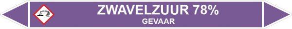 Leidingstickers Leidingmarkering Zwavelzuur 78% (Basen)