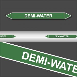 Leidingstickers Leidingmarkering Demi-Water (Water)