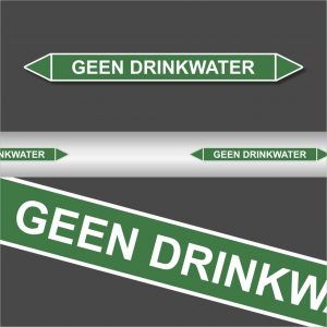 Leidingstickers Leidingmarkering geen drinkwater (Water)