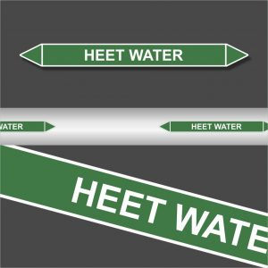 Leidingstickers Leidingmarkering heet water (Water)