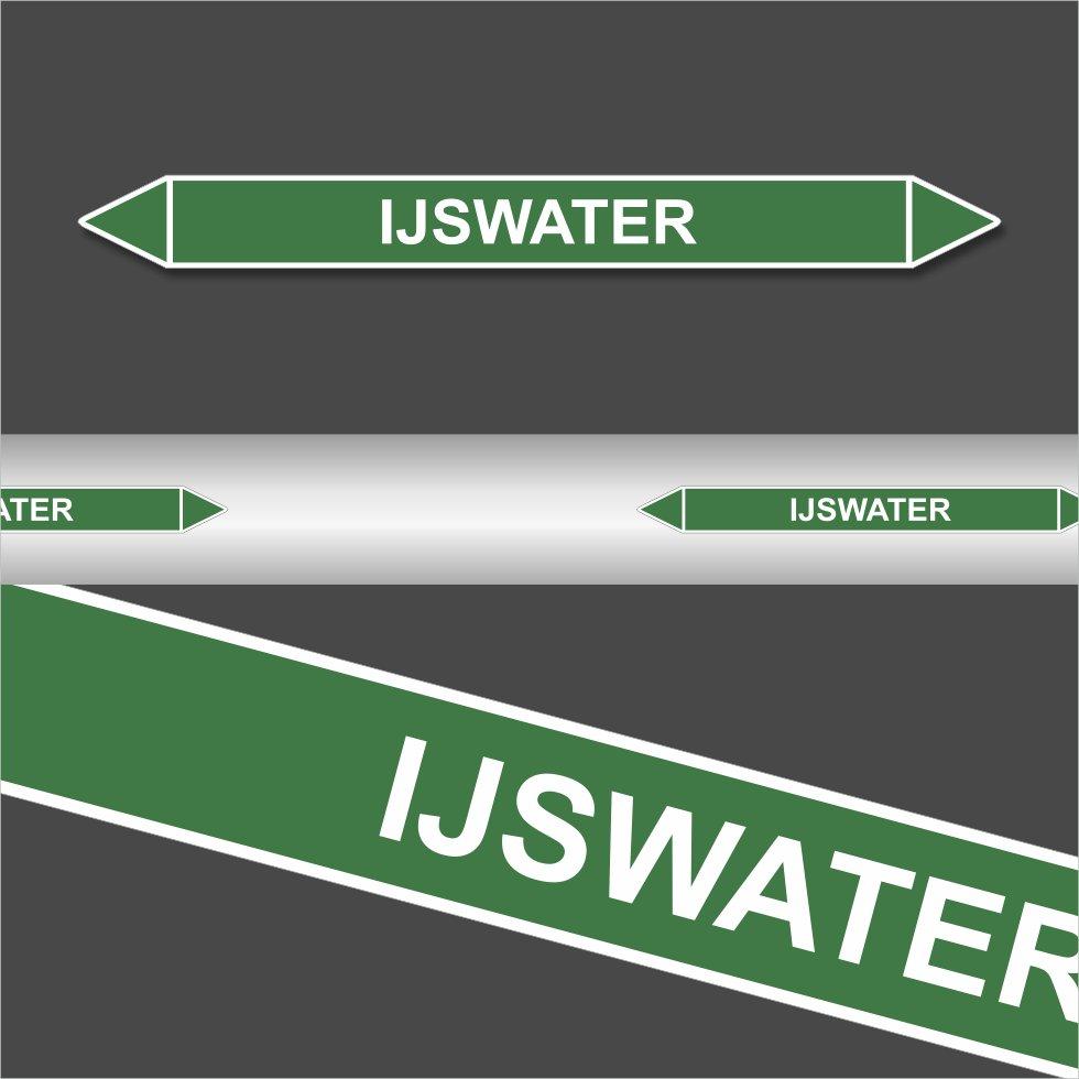 Leidingstickers Leidingmarkering ijswater (Water)