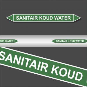 Leidingstickers Leidingmarkering sanitair koud water (Water)