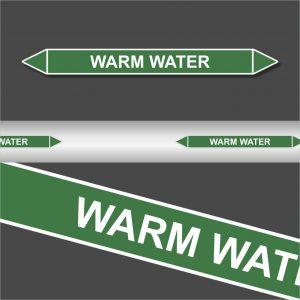 Leidingstickers Leidingmarkering warm water (Water)