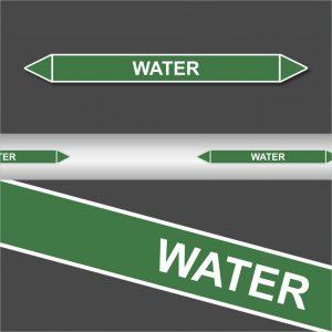 Leidingstickers Leidingmarkering water (Water)