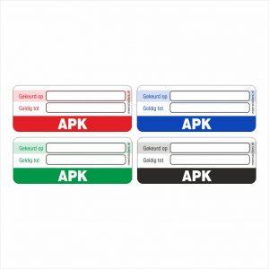 Onderhoud stickers apk universeel