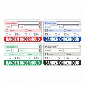 Onderhoud stickers banden onderhoud universeel