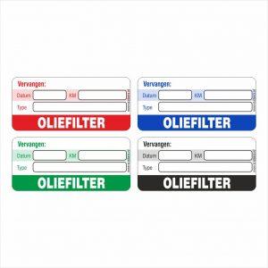 Onderhoud stickers oliefilter vervangen universeel