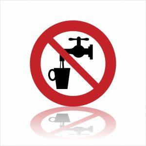 Pictogram geen drinkwater sticker