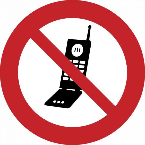 Pictogram mobiel verboden sticker