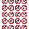 Pictogram niet met water blussen sticker 25mm