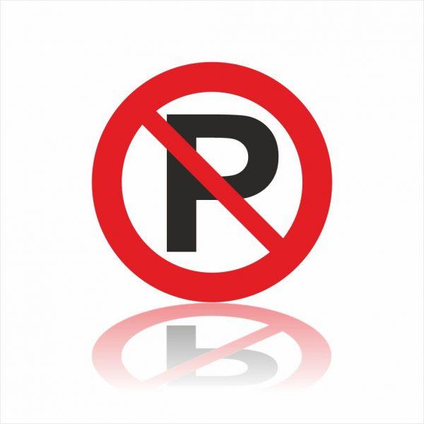 Pictogram niet parkeren sticker