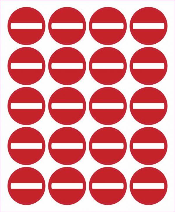 Pictogram verboden richting sticker 25mm
