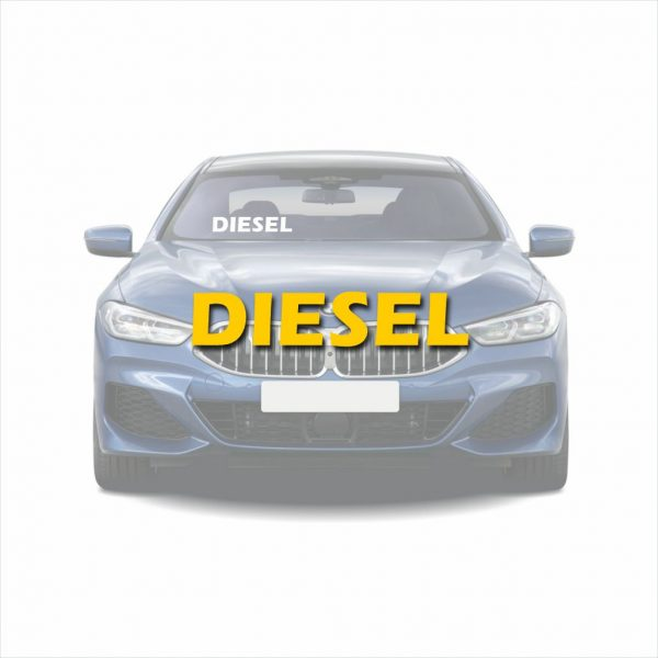 Autoraam stickers diesel