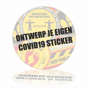 covid19 Ontwerp je eigen sticker