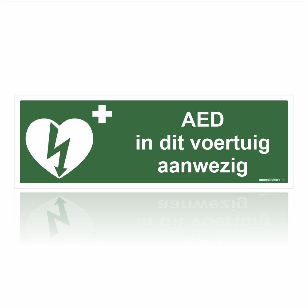 AED in dit voertuig aanwezig Stickers